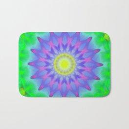 Abstract Flower AA YY Bath Mat