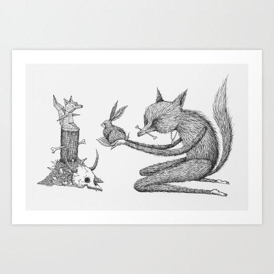 'Offering' - Grey Art Print
