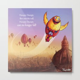 """Humpty Dumpty"" Page Sample 2 (Mother Goose Retold-Trumble Book) Metal Print"