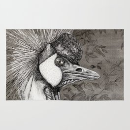 Grey Crowned Crane G023 Rug