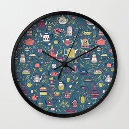 Teapots #3 Wall Clock