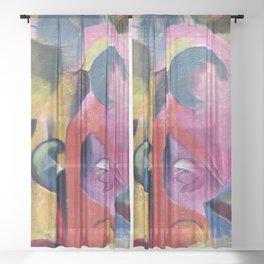 Franz Marc - Komposition III Sheer Curtain