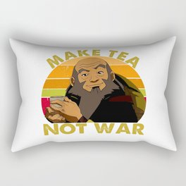Make Tea Not War - Peaceful Samurai Tea Drinker Rectangular Pillow