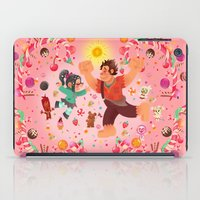 wreck it ralph iPad Cases featuring Sweet wall painting by princessbeautycase