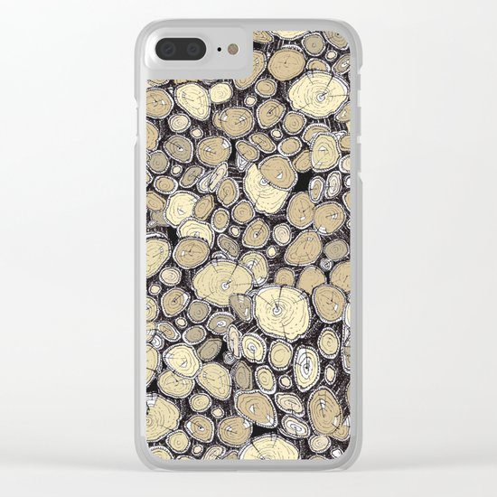 wood collab Clear iPhone Case