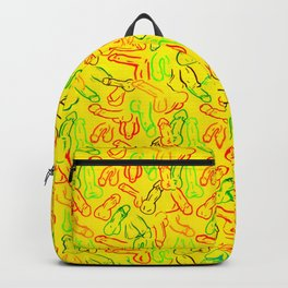 Penis Pattern Backpack