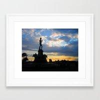 david fleck Framed Art Prints featuring David by Ken Seligson