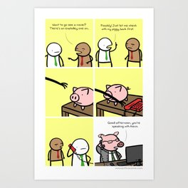 Antics #029 - financial wizardry Art Print