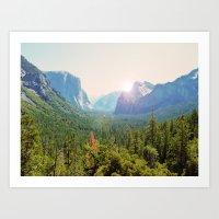 yosemite Art Prints featuring Yosemite by Chelem