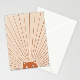 Good Morning Sun Foxy Stationery Cards