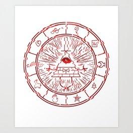 Gravity Falls Bill Cipher Wheel- disorderd Art Print