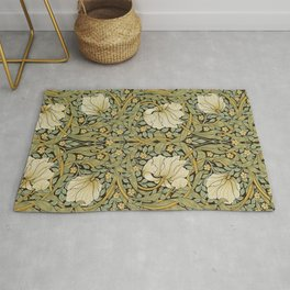 William Morris Pimpernel Art Nouveau Floral Pattern Rug
