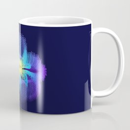 Brilliant Blue Hibiscus Abstract Flower Coffee Mug