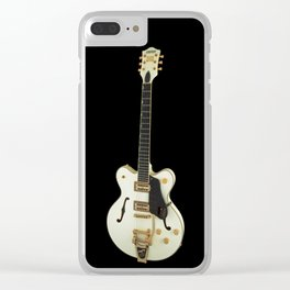 Whte Guitar Collection Clear iPhone Case