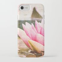 lotus flower iPhone & iPod Cases featuring Lotus by Around the Island (Robin Epstein)