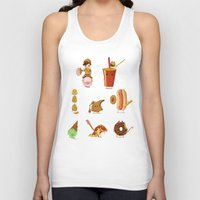 junk food Tank Tops featuring Junk food Army by Jiaqi He