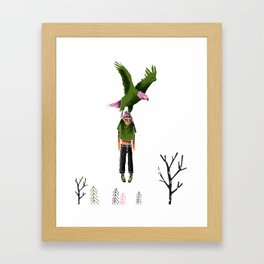 //Carried away// Framed Art Print