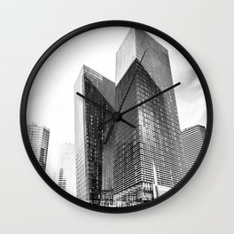 twin buildings at Las Vegas, USA in black and white Wall Clock