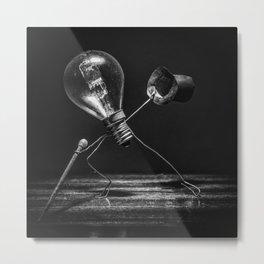 Tip-tap dancer in black and white Metal Print