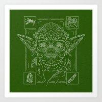 yoda Art Prints featuring Yoda by Jon Deviny