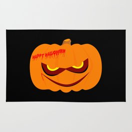 Evil Halloween Pumpkin Rug