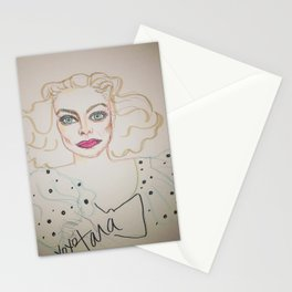 Joan in polka dots Stationery Cards