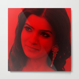 Samantha Ruth Prabhu - Celebrity (Photographic Art) Metal Print