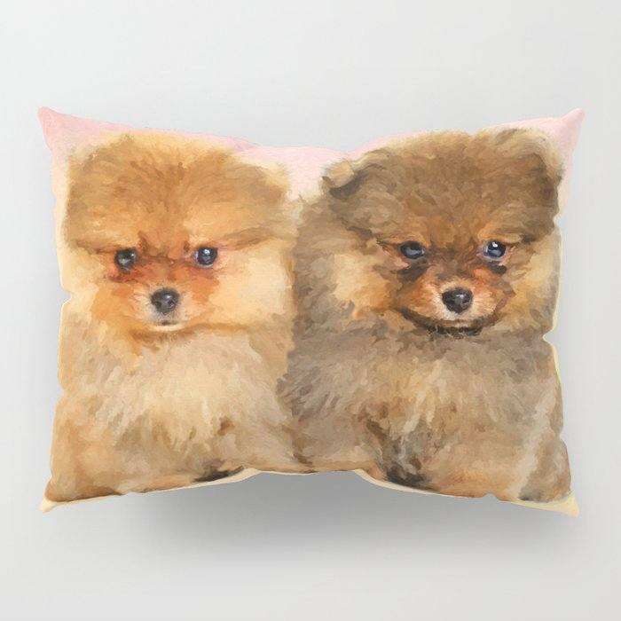 Cute Pomeranian Puppies Pillow Sham