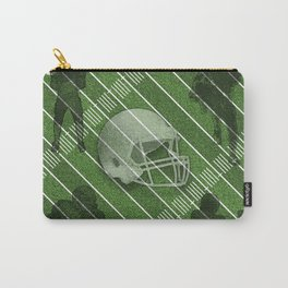 Football Helmet and Players over a Field Carry-All Pouch