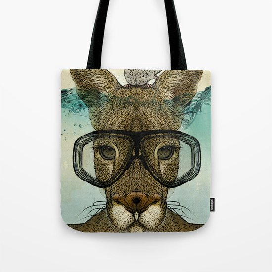 Skuba Roo and a white mouse Tote Bag