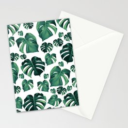 Tropical Monstera Pattern #3 #tropical #decor #art #society6 Stationery Cards