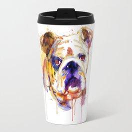 English Bulldog Head Travel Mug