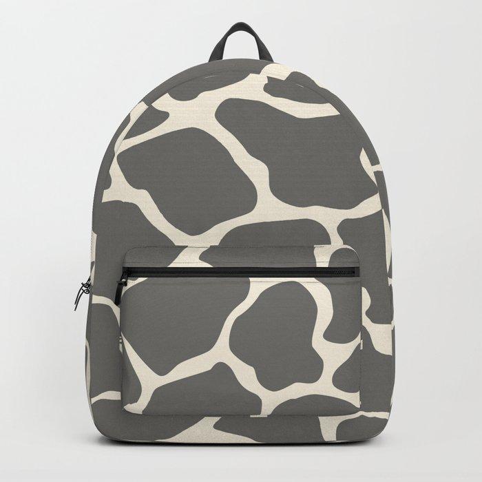 Safari Giraffe Print - Grey & Beige Backpack