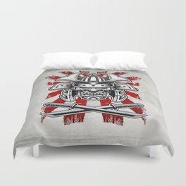 Samurai Mask Duvet Cover