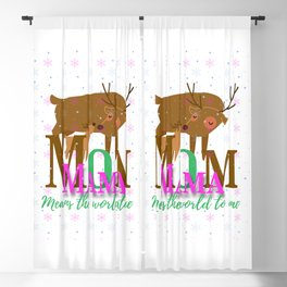 Mom Means the World to Me Blackout Curtain
