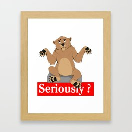 Seriously_2 Framed Art Print