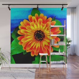 Orange Marigold Wall Mural