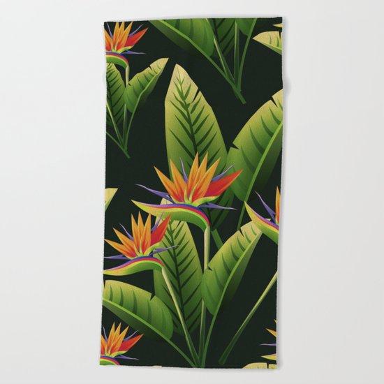 Tropical Flowers vol.4 Beach Towel