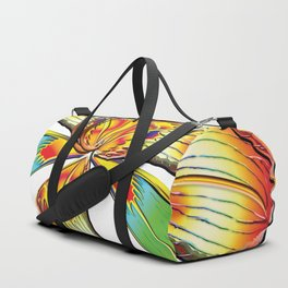 Rockin Tiger Lily Flower Psychedelic Abstract Duffle Bag