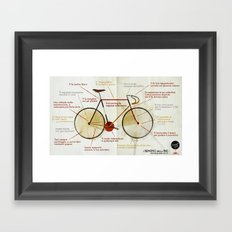 Bike benefit (ITA) Framed Art Print