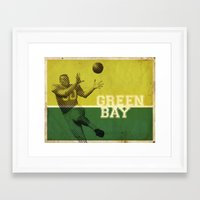 packers Framed Art Prints featuring Green Bay, Wisconsin by Project Wisconsin