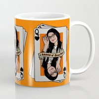 alex vause Mugs featuring Vause - The Queen of Hearts by Vague