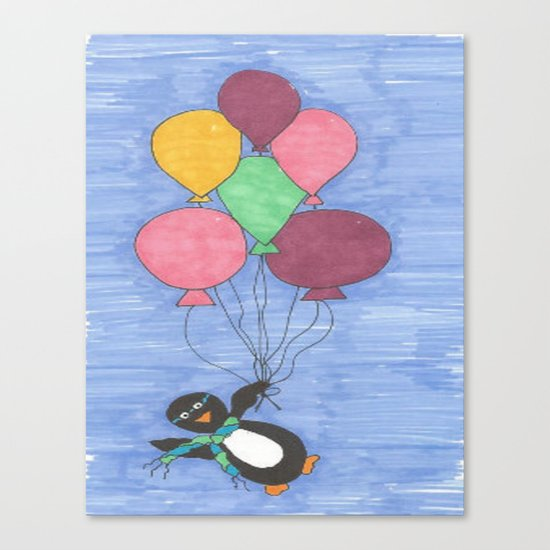 When Penguins Fly Canvas Print