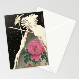 Bird and Peony Japanese Woodcut Stationery Cards