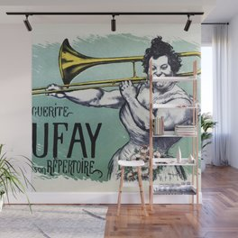 Marguerite Dufay playing the trombone Wall Mural