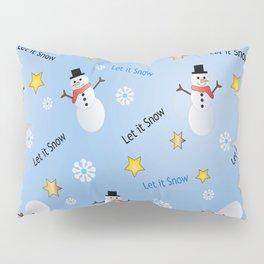 Dancing Snowmen Pillow Sham