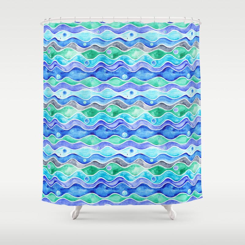 Ocean shower curtain - Ocean Shower Curtain 51