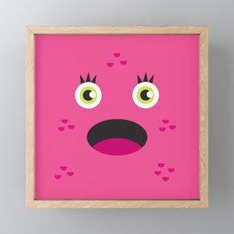 Pink Monster Framed Mini Art Print