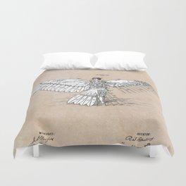 patent art Spalding Flying Machine  1889 Duvet Cover