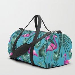 Tropical Flamingo Pattern #4 #tropical #decor #art #society6 Duffle Bag